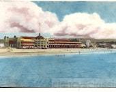 vintage photo Coconut Grove Boardwalk Santa Cruz California 1990 Hand Colored Tinted Photo