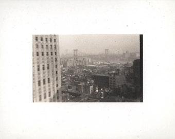 vintage photo 1940 Manhattan Bridge New York From 21st Fl #2 Lafayette St.