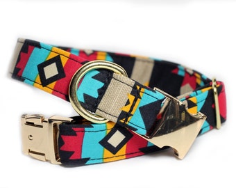Aztec dog collar - Tribal Collar - Kickapoo