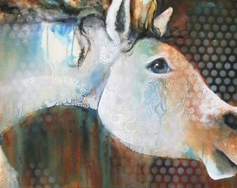 horse note card (untitled painting)