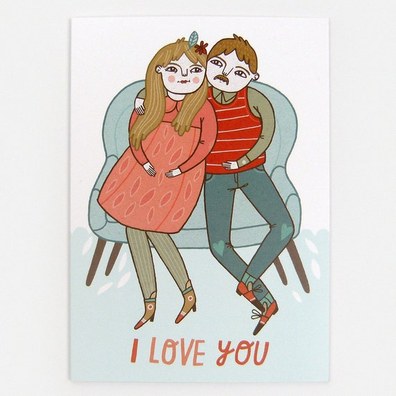 I Love You (Couch) - Greeting Card