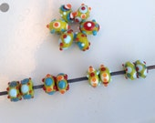 RESERVED for KRIS Handmade Lampwork Glass Beads 4 Pair bbblampwork SRA