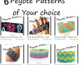 6 peyote patterns of Your choice from my shop ! Peyote patterns for bracelets