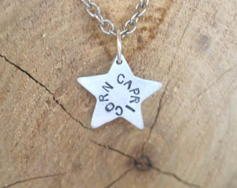 Capricorn-Star Sign Star Astrology Necklace