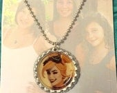 Comic Character Bottle Cap Necklace Harley Quinn Suicide Squad