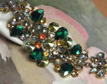 LG Vintage TABOO Bracelet Large Jewels Links Czech Jewelry