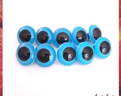 24mm blue eyes plastic eyes 5 pairs