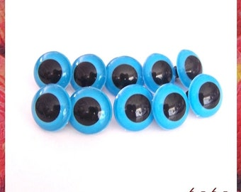 24mm blue eyes plastic eyes 5 pairs