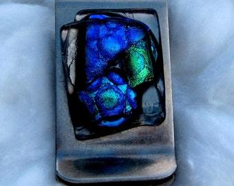 Dichroic Glass Money Clip