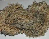 Handspun Art Yarn Coils Kid Mohair Shetland Gold Charcoal 16-1-8