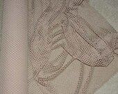 """Nude Poly Nylon Big Hole Stretch  Mesh Fabric sold by the yard  58"""" wide  clothing, bags, home decor"""