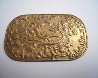Vintage Brass Bird Centerpiece Stamping