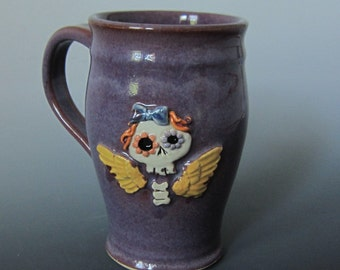 Fun & Quirky Sugar Skull Coffee mug