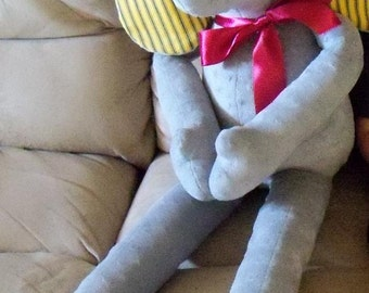 Elephant Minky Plush Stuffed Animal - you decorate!