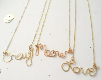 Love Meow or Cray say my name necklace