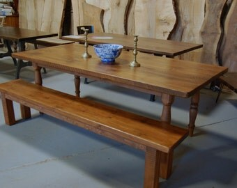 Custom Farm Table on Turned Legs
