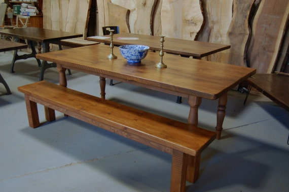 Custom Farm Table On Turned Legs