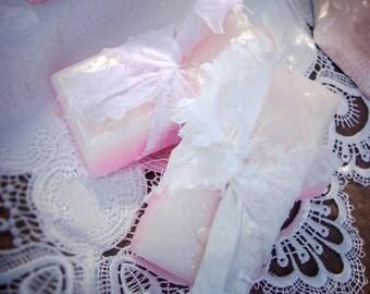 Moisturizing Soap Bar, Shea Butter Soap, Vintage Fabric, Handmade Soap, Mango Butter, Coconut Milk Soap, Handmade Gift, Mother, Her Gift