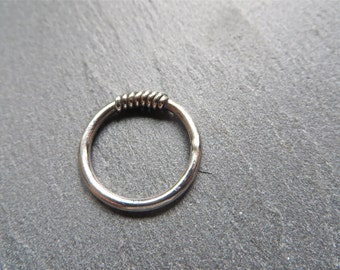 Wrap - Silver Midi Ring Wire Wrapped Ring Stacking Ring Mid Finger Above Knuckle Ring Pinkie Ring