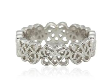 Men's Wedding Band, Celtic Knot Men's Wedding Ring, Platinum Man's Celtic Knot Wedding Band, Platinum Custom Men's Wedding Ring - LS4106