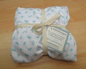 Fitted Crib Sheet, Organic Cotton, Maman Blue, Bedding, Baby