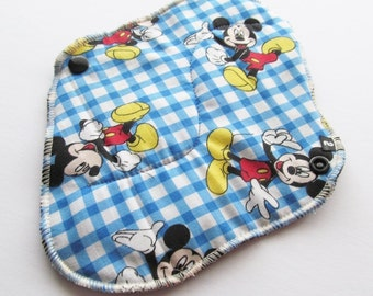 Cloth Mama Pad / Reusable Cloth Pad  - Mouse Printed 8 Inch FREE Shipping