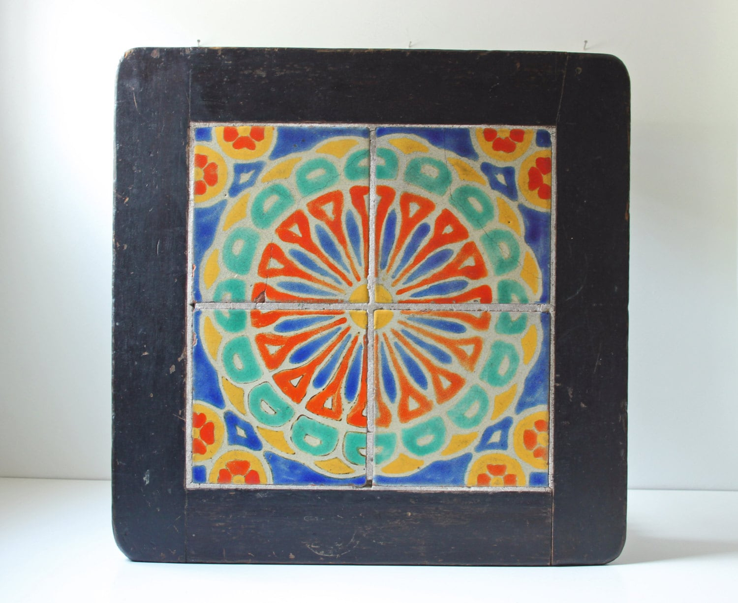 antique catalina tile table arts and crafts mission style