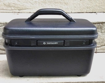 Train Case BLACK Samsonite Vintage KEY MOD 60s