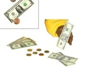 """Doll Money Set - Made to Fit American Girl / 18"""" Doll - DOLL ACCESSORIES - Set of 6 Bills & 6 Coins!"""