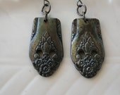 Patina Spoon Handle Earrings