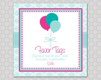 Favor Tag - Add-on  Printable digital 3x3 favor tag