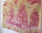 vintage Manuel Canovas designer fabric sample Hispaniola, Printed in France.