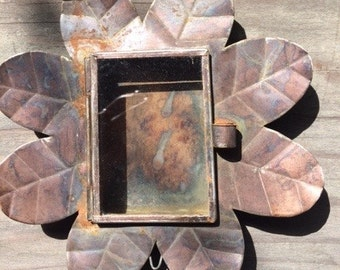Vintage Nicho in a Frame of Leaves