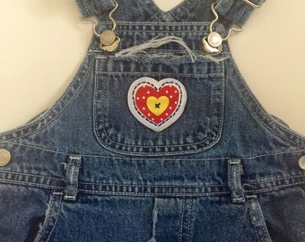 Baby Altered Couture Hippie Grunge Farm Girl Bib Jeans
