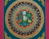 Original  Mandala Thangka Painting from Nepal- Non Profit