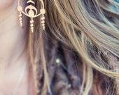 Starship Athena Crop Circle Rose Gold Earrings