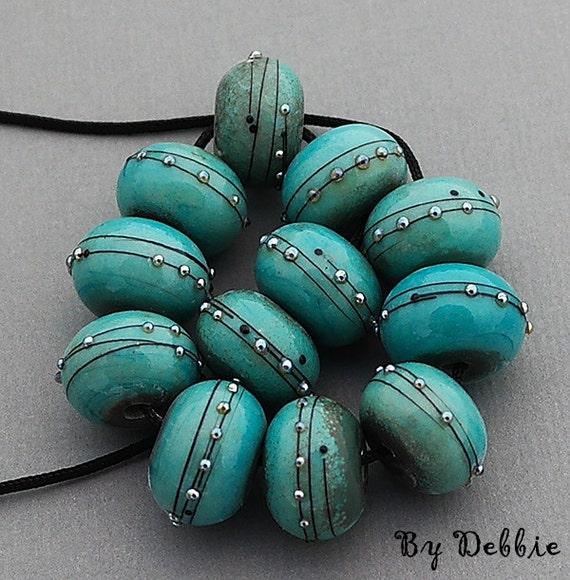 DSG Beads Handmade OrGaNiC Lampwork Glass ~Copper Green Beauties~ Made To Order