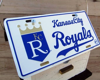 Kansas City Royals License Plate Baseball Birdhouse White Fully Functional MLB