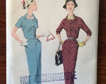 1950s Vintage Advance Dress and Jacket Pattern 8348 Size 18 Bust 38 - NC - 1950s Advance / 50s Advance / 1950s Pattern / 50s Sewing Pattern