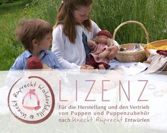 Lizenz  für die Herstellung und den Vertrieb von Puppen und Puppenzubehör nach Knecht Ruprecht Entwürfen