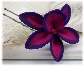 Orchid Crystal Hair Clip Pin - Tropical Hair Flower, More Colors