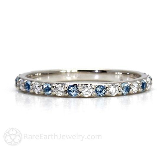 aquamarine ring aquamarine anniversary band diamonds by