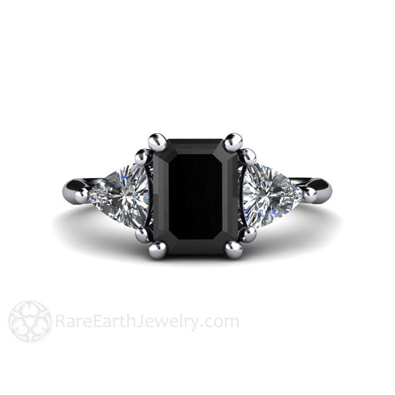 Black Diamond Engagement Ring Vintage Black Diamond Ring 3