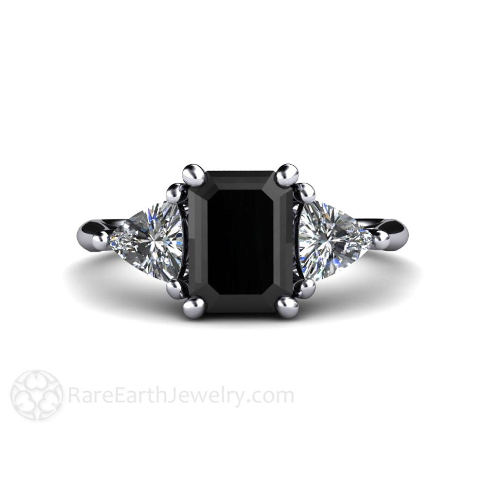 Black Diamond Wedding Rings: Black Diamond Engagement Ring Vintage Black Diamond Ring 3