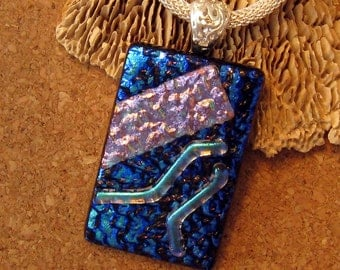 Dichroic Pendant, Dichroic Necklace, Fused Glass Pendant