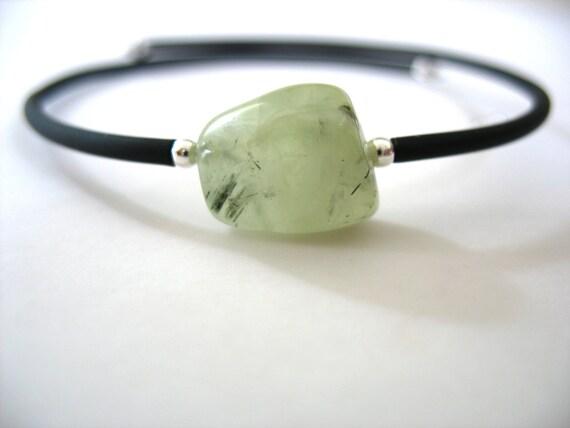 Prehnite Bracelet, Prehnite Stone Bracelet , Prehnite Handmade Gemstone Cuff Bracelet, Gemstone Jewelry, Stone Bracelet