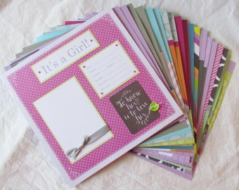 20 BABY GIRL Scrapbook Pages for 12x12 FiRsT YeAr ALbUm -- ChiC and TrEnDy --