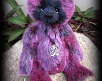 "ETOILE artist teddy bear faux fur KIT - 10"" tall when finished"