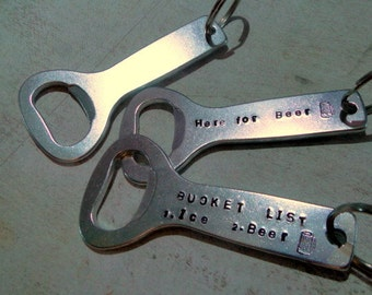 BOTTLE OPENERS - Aluminum Stamping Blank - 12g - QUANTiTy  3 - perfect for beer lover keychains