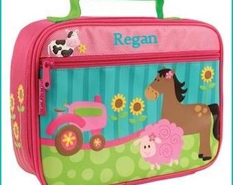Personalized Farm Girl, Lunchbox, School, Lunch Sac, Personalized Lunchbox, Kids Lunchbox, Lunch Box, Lunch Pal,